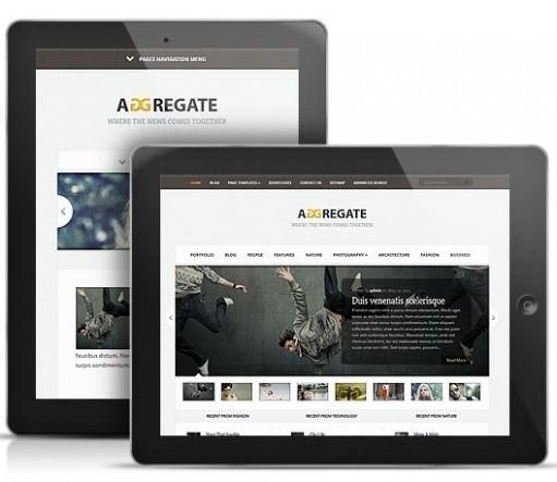 Aggregate-Responsive-WordPress-Theme
