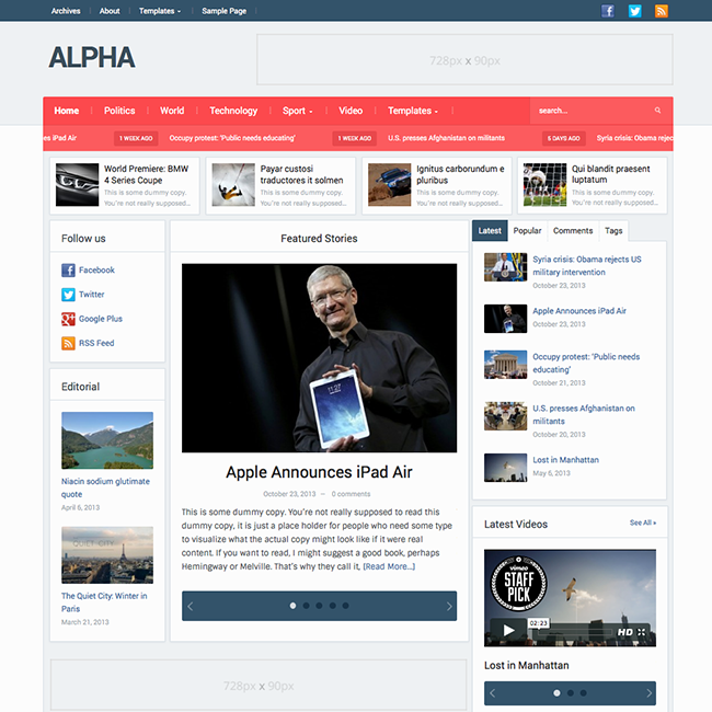 Alpha-News-WordPress-Theme
