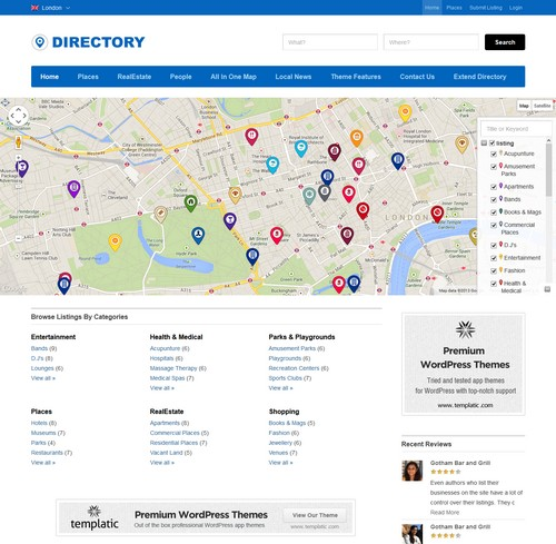 Directory-WP-Template