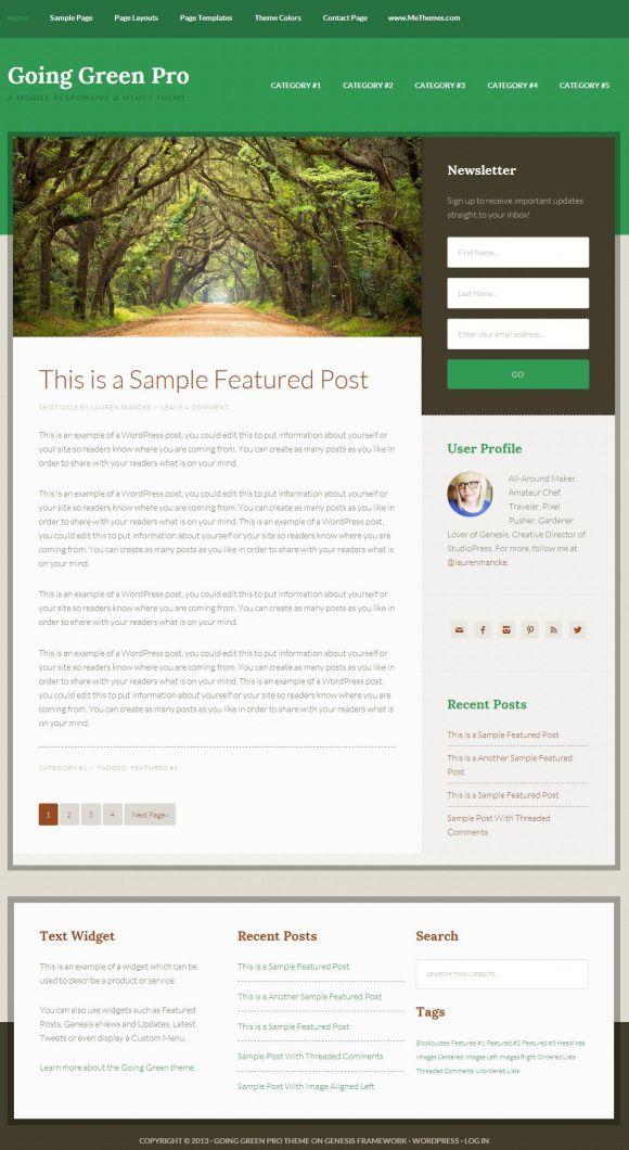 Going-Green-Pro-Review-StudioPress