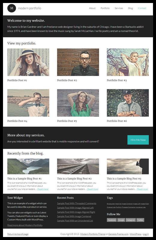 Modern-Portfolio-Theme-Studiopress