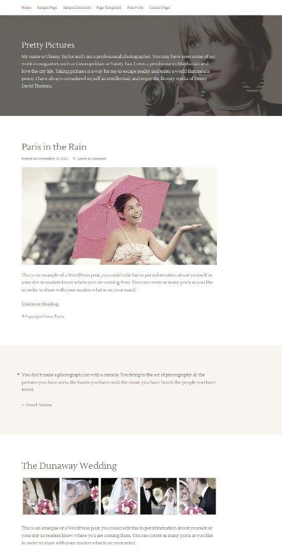 Pretty-Pictures-WordPress-Theme