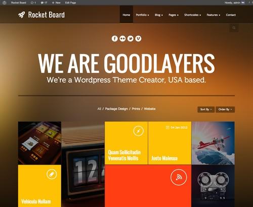Rocket-Board-Flat-WP-Template