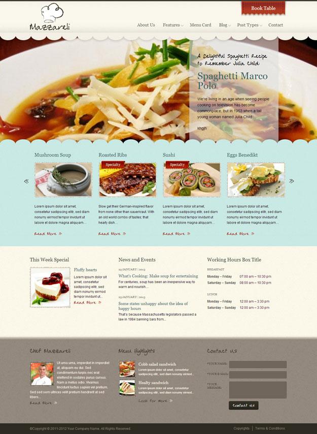 mazzareli-cafe-restaurant-theme