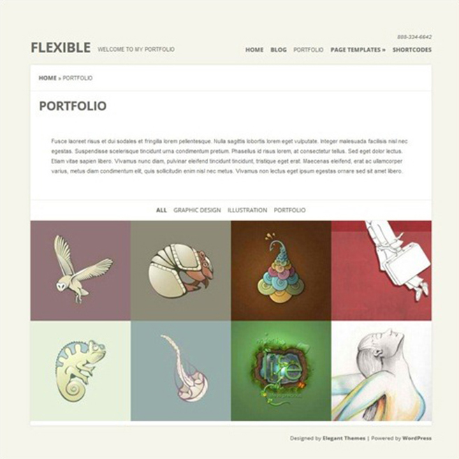 Flexible-Photography-Website-Templates