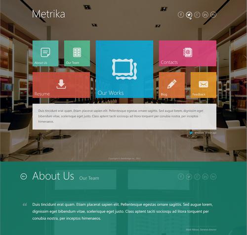 Metrika-One-Page-Wordpress-Template