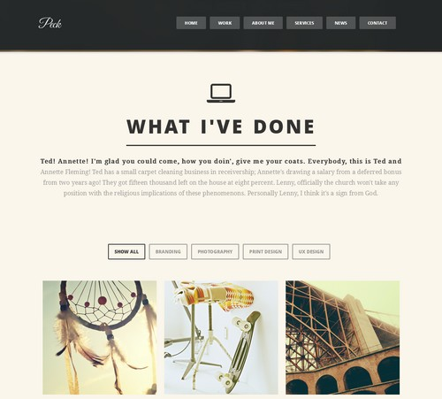 Peck-One-Page-WordPress-Theme