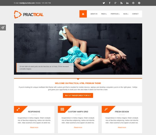 Practical-HTML-Responsive-Theme