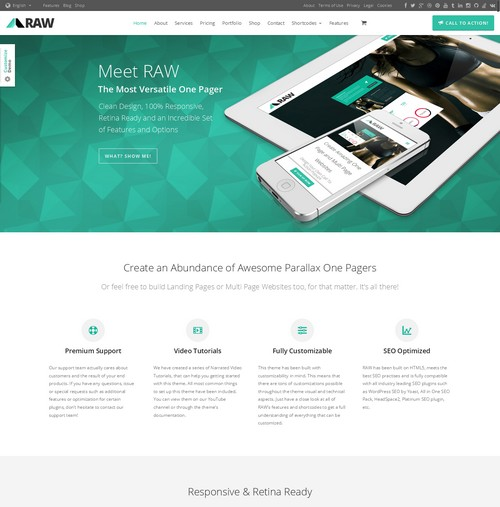 Raw-One-Multi-Page-Theme