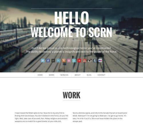 SCRN-Responsive-Portfolio-Theme