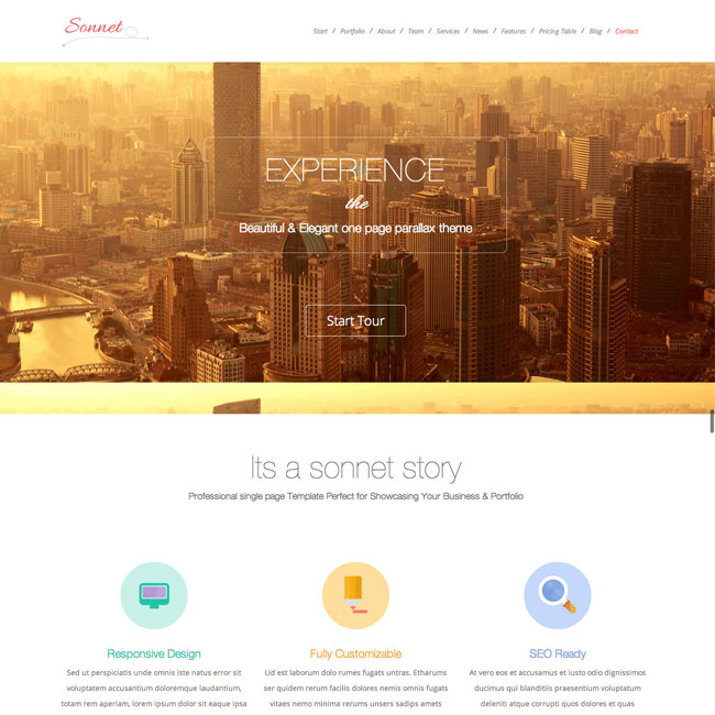 Sonnet-WordPress-Theme-Download-Feature