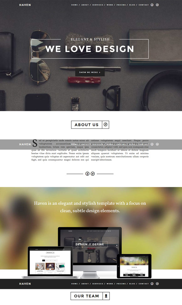 haven-elegant-one-page-wordpress-theme