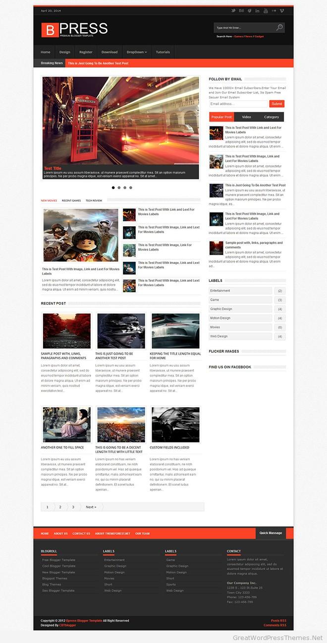 Bpress-Blogger-Theme