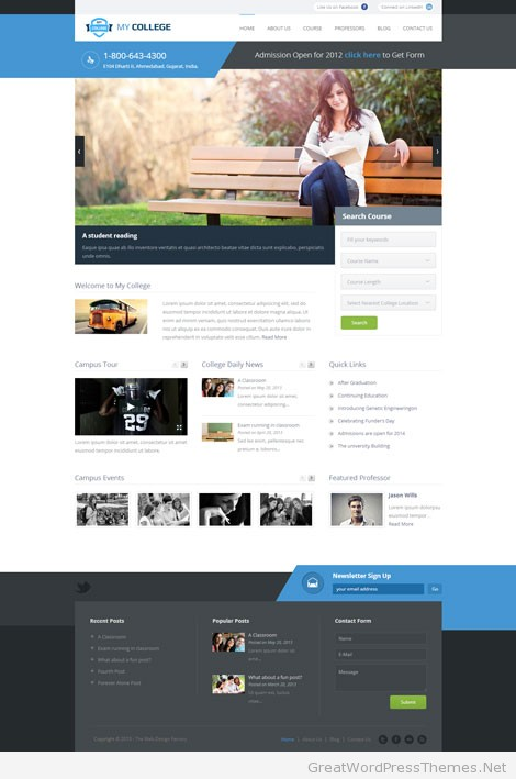 My-College-Wordpress-Education-Theme