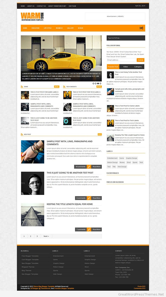 Warm-Mag Blogger-Template