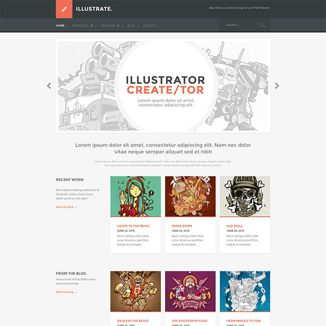 illustrate-premium-portfolio-wordpress-theme