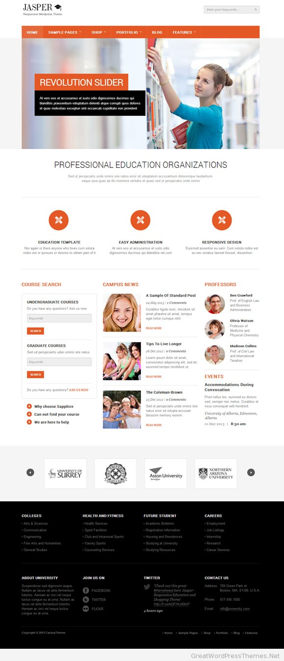 jasper-responsive-education-wordpress-theme