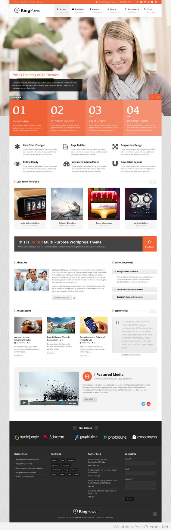 king-power-wordpress-theme