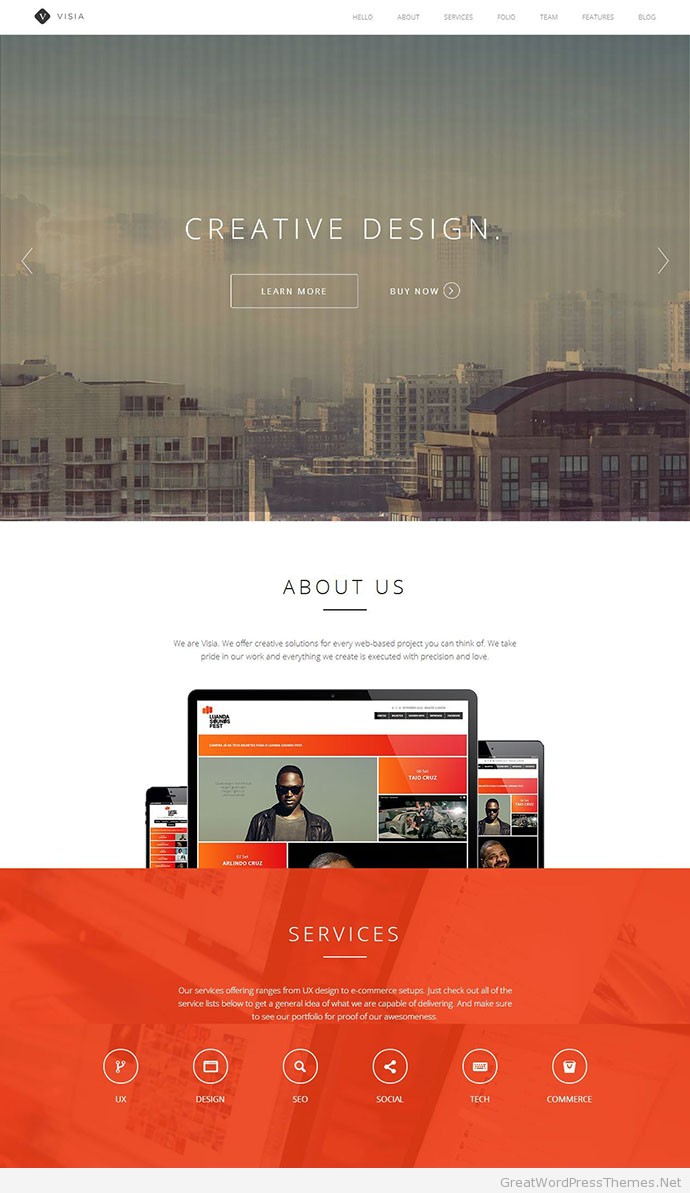 Visia-WordPress-Theme