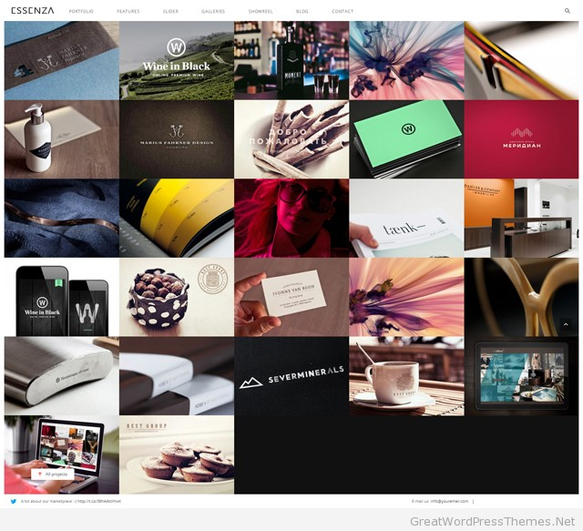 essenza-WordPress-grid-portfolio-theme
