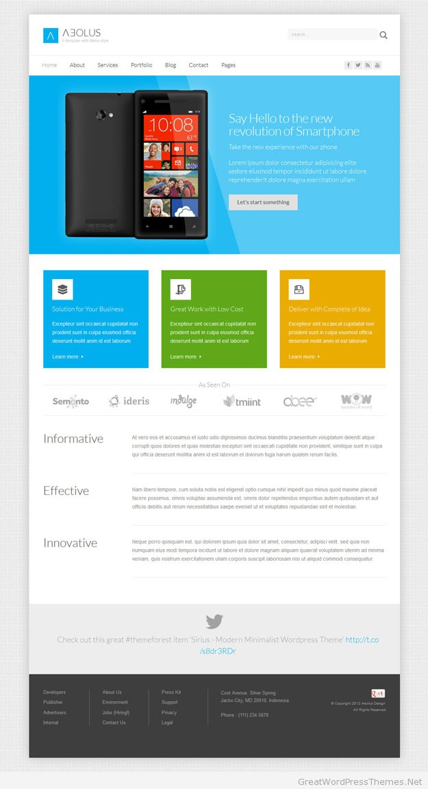 Aeolus-wordpress-theme