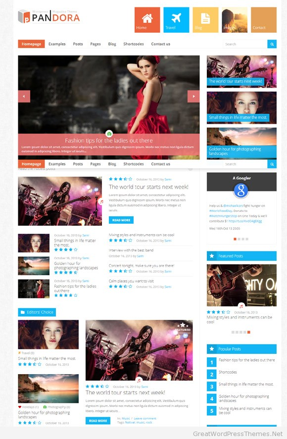 Pandora-Responsive-WordPress-New-Theme