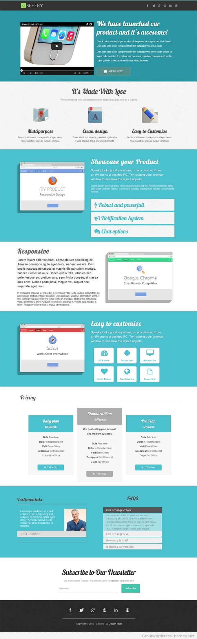 Book Landing Page Wordpress Speeky Wordpress Landing Page