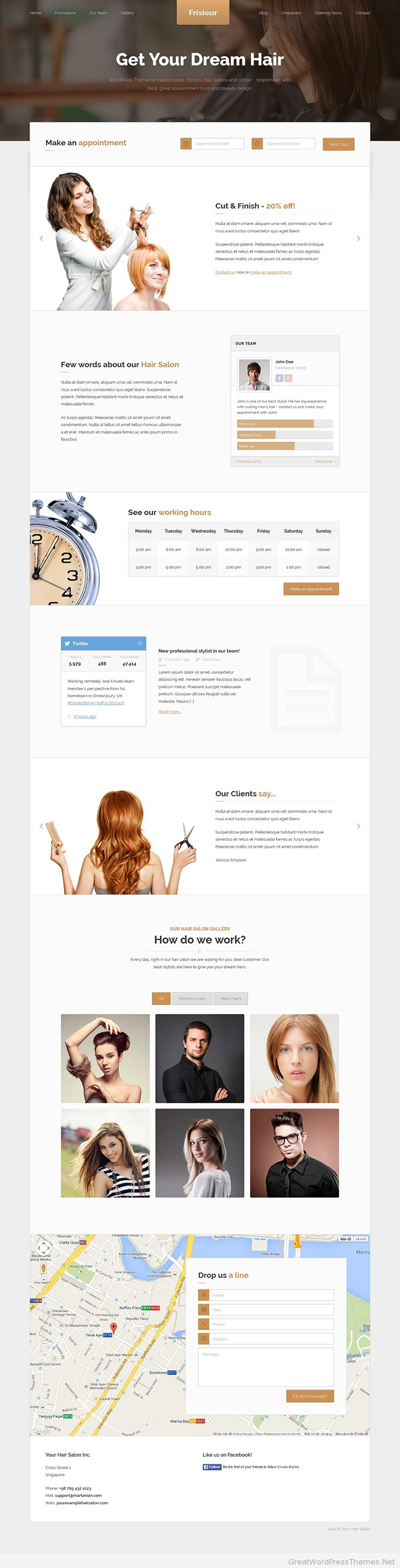 Frisieur-WordPress-Theme
