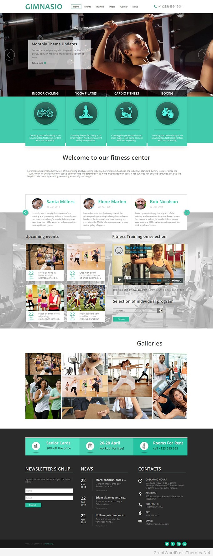 Gimnasio-Responsive-WordPress-Theme