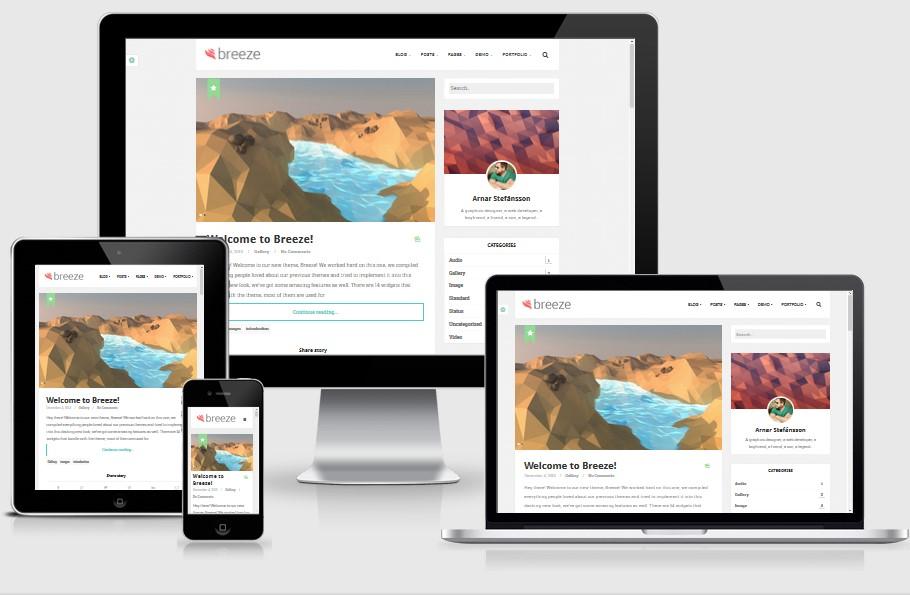 Breeze-Responsive-Bootstrap-WordPress-Theme