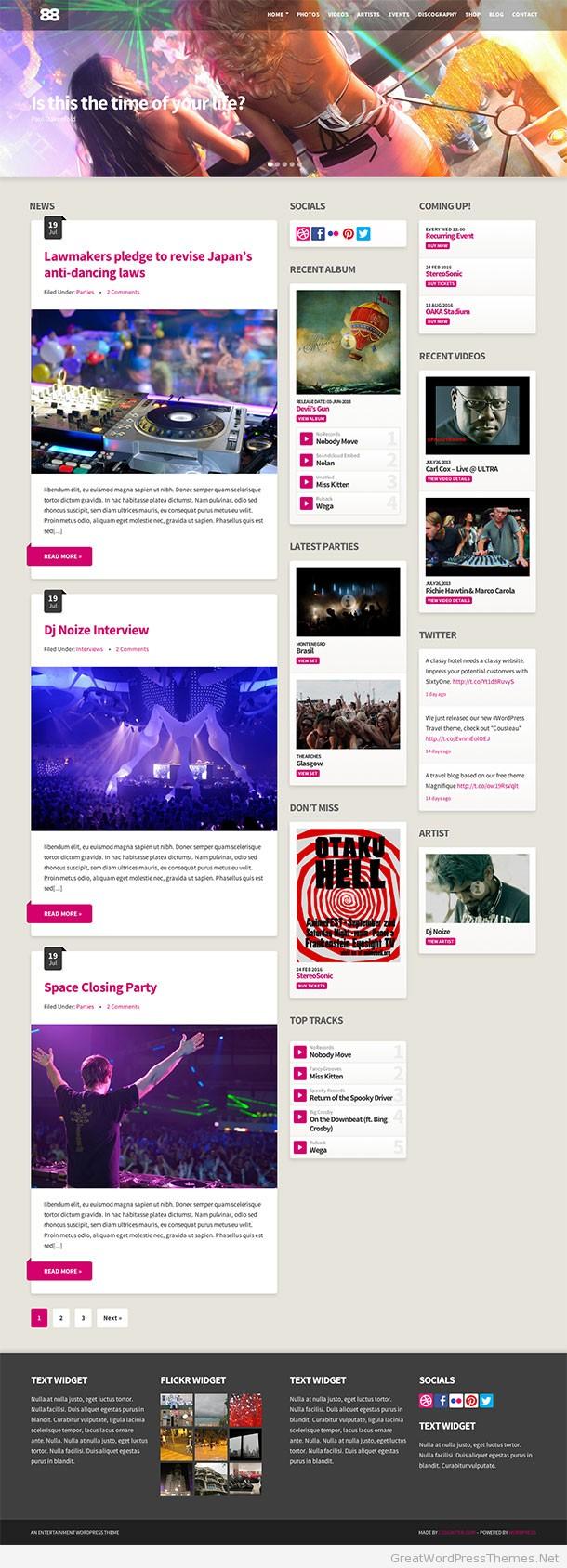 Club88-WordPress-Theme