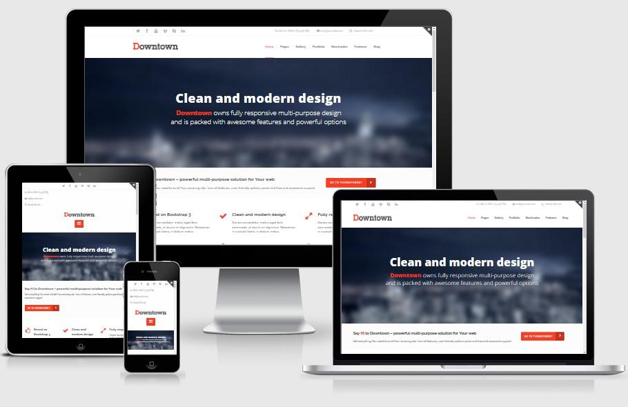 Downtown-Responsive-Bootstrap-WordPress-Theme