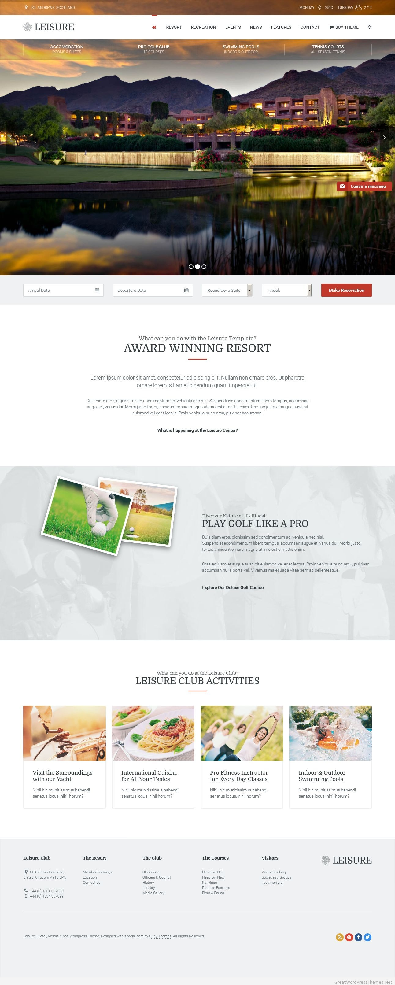 Leisure-WP-Theme